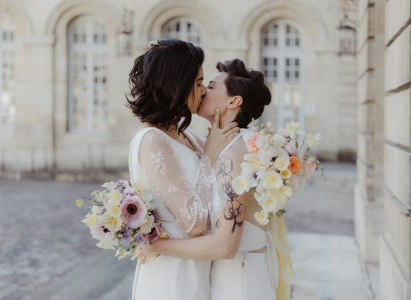 Un mariage civil en petit comité à Bordeaux
